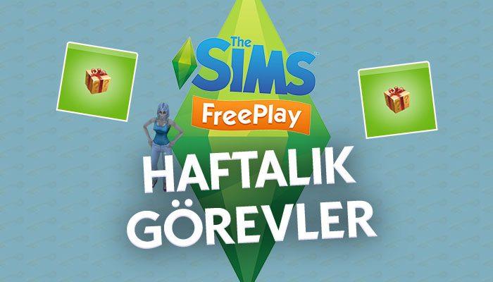 The Sims Freeplay Weeekly Tasks Haftalık Görevler