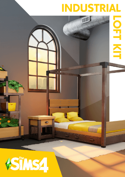The Sims 4 Industrial Loft Kit Kutu Tasarımı