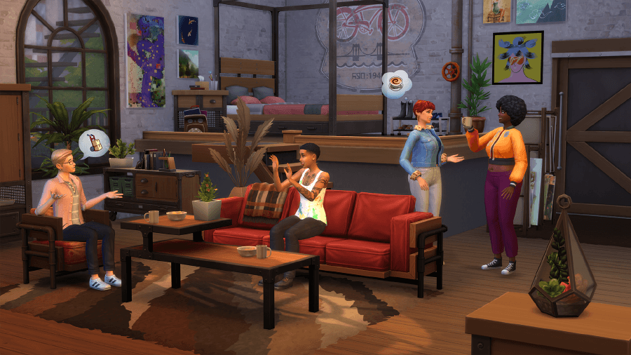 The Sims 4 Industrial Loft Kit Official Screen